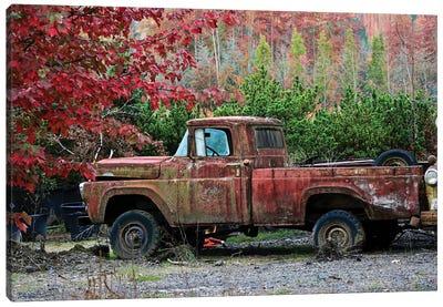 Autumn Vintage Truck Canvas Art Print
