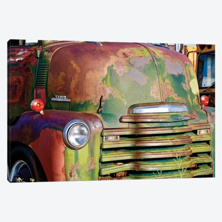 Green Rusted Grill Canvas Print #SUV206} by Susan Vizvary Canvas Wall Art