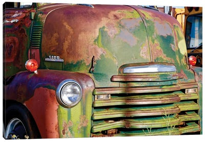 Green Rusted Grill Canvas Art Print