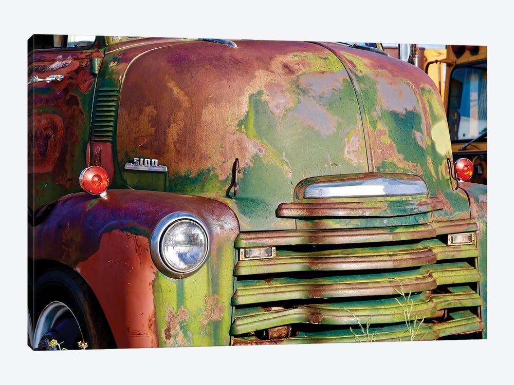Green Rusted Grill by Susan Vizvary 1-piece Canvas Print
