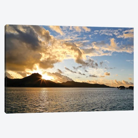 Bora Bora Sunset Canvas Print #SUV20} by Susan Vizvary Canvas Wall Art