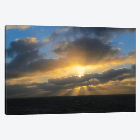Rays Of A Sunset Canvas Print #SUV228} by Susan Vizvary Art Print