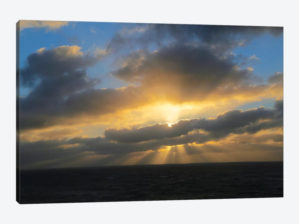 Rays Of A Sunset 1-piece Art Print