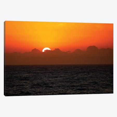 Sunset Through The Clouds Canvas Print #SUV229} by Susan Vizvary Art Print