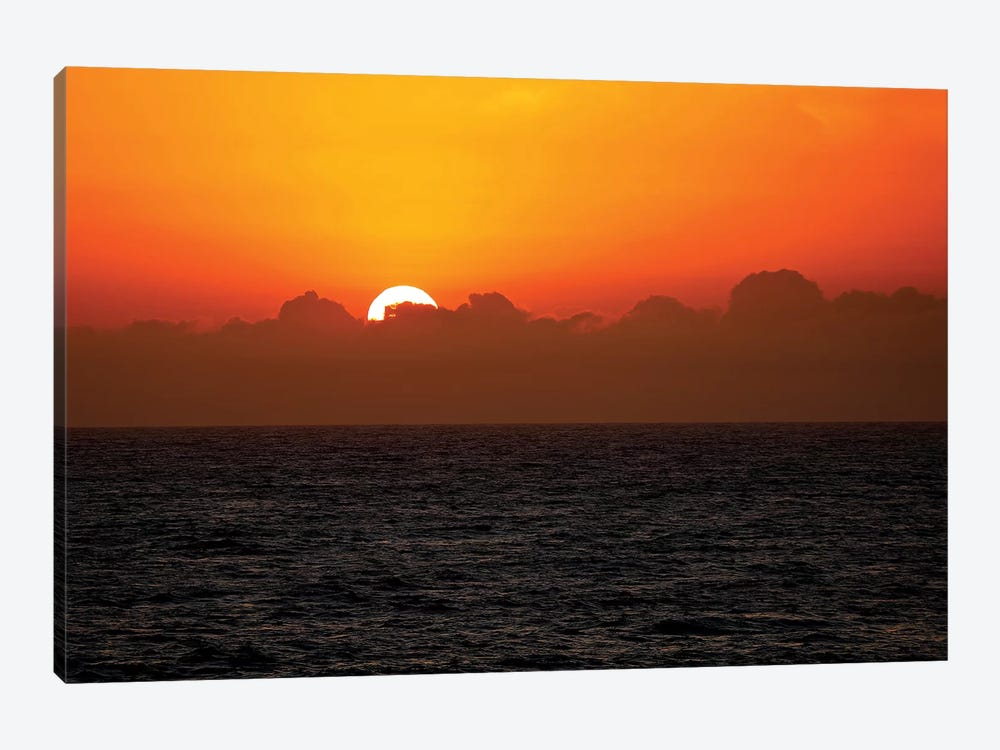 Sunset Through The Clouds by Susan Vizvary 1-piece Canvas Artwork