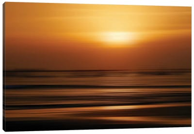 Blurred Sunset Canvas Art Print
