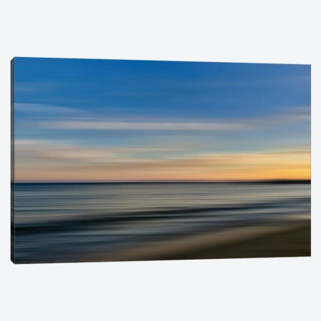 Malibu Shoreblur Canvas Print #SUV236} by Susan Vizvary Art Print