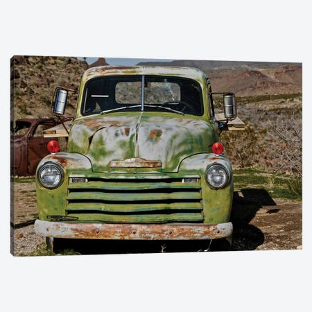 Green Chevorlet Route 66 Canvas Print #SUV248} by Susan Vizvary Art Print