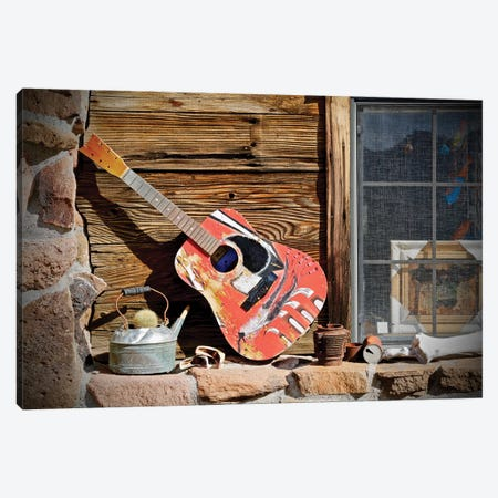 Guitar In The Window 3-Piece Canvas #SUV250} by Susan Vizvary Canvas Wall Art