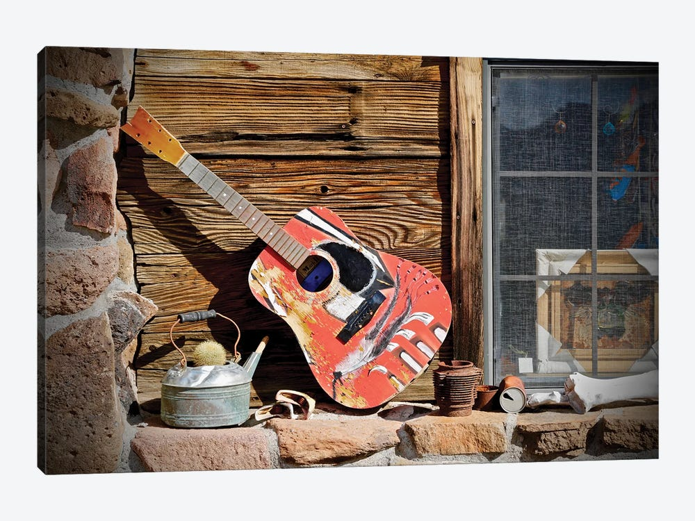 Guitar In The Window by Susan Vizvary 1-piece Canvas Art
