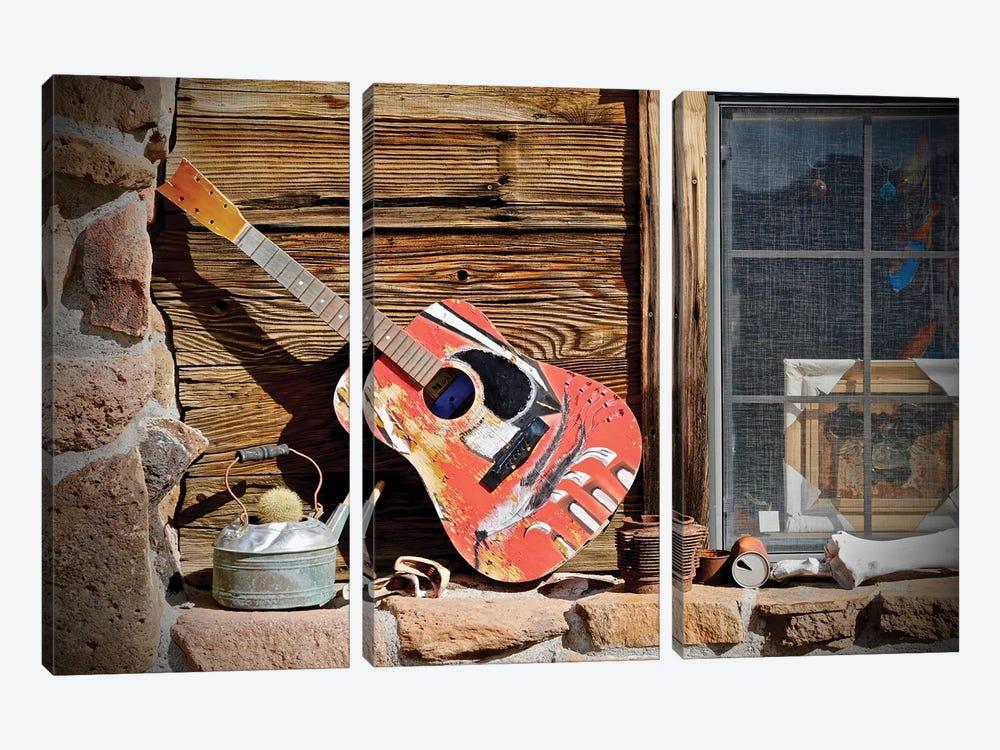 Guitar In The Window by Susan Vizvary 3-piece Canvas Art