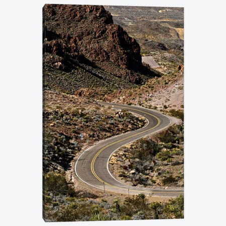 Kingman Curved Road Canvas Print #SUV251} by Susan Vizvary Canvas Artwork