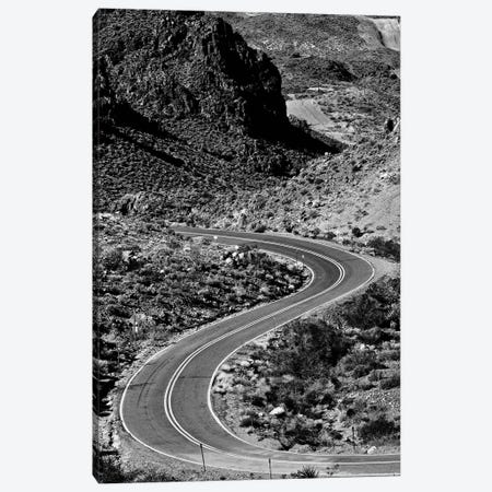 Kingman Curved Road In Black And White Canvas Print #SUV252} by Susan Vizvary Canvas Art