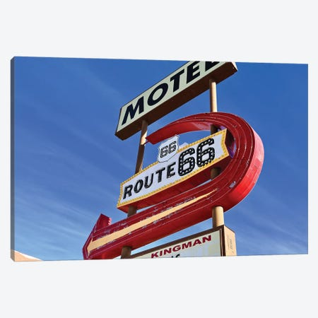 Kingman Motel Route 66 Canvas Print #SUV253} by Susan Vizvary Canvas Art