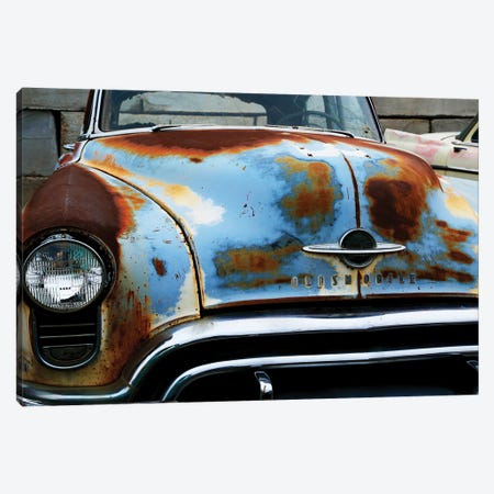 Oldsmobile Front Grill 3-Piece Canvas #SUV256} by Susan Vizvary Canvas Art Print