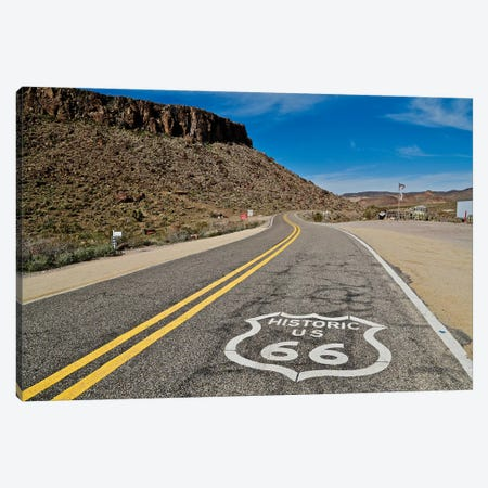 Route 66, Curved Road Canvas Print #SUV260} by Susan Vizvary Art Print