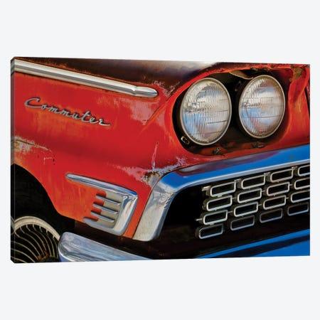 Vintage Commuter Headlight Canvas Print #SUV263} by Susan Vizvary Art Print