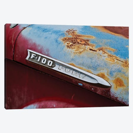 Vintage F-100 Ford Canvas Print #SUV265} by Susan Vizvary Canvas Art