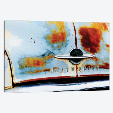 Vintage Oldsmobile Front Canvas Print #SUV266} by Susan Vizvary Canvas Art
