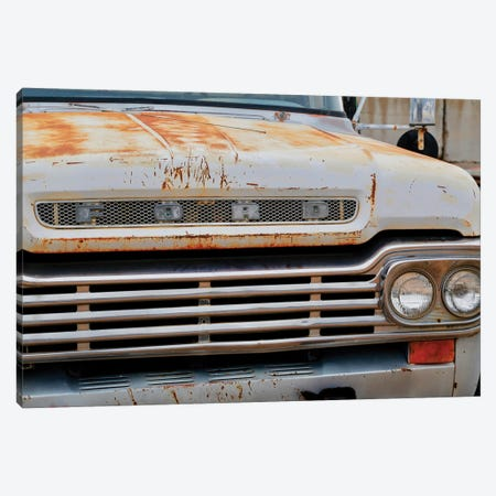 White Ford Grill Canvas Print #SUV267} by Susan Vizvary Canvas Wall Art