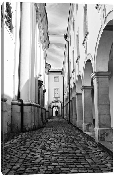 Abbey In Black and White Canvas Art Print