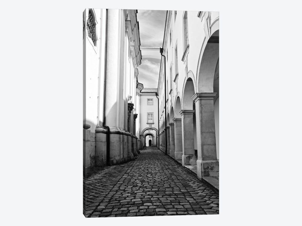 Abbey In Black and White by Susan Vizvary 1-piece Art Print