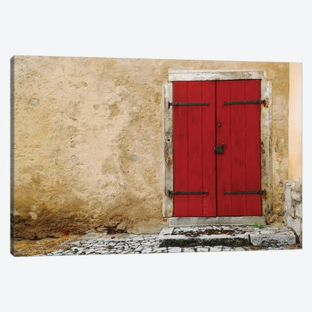 Austrian Red Door Canvas Print #SUV270} by Susan Vizvary Canvas Artwork