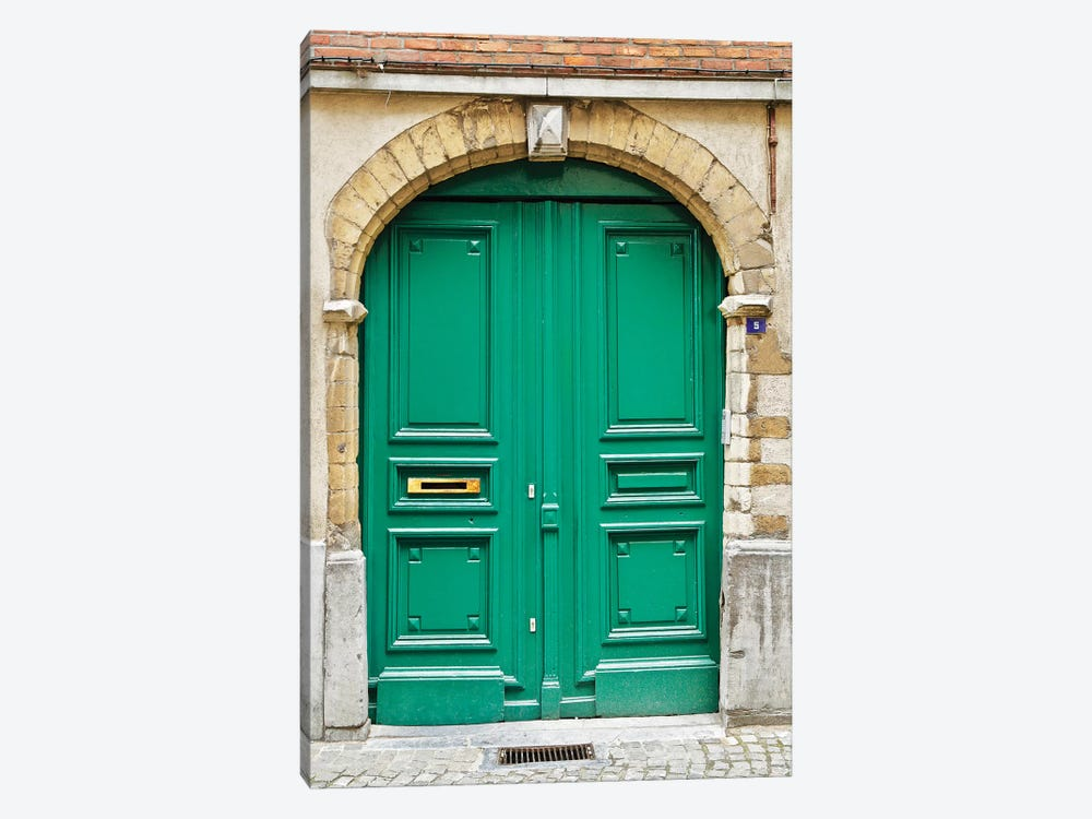 Belgium Green Door II by Susan Vizvary 1-piece Canvas Wall Art