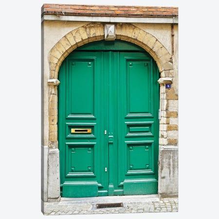 Belgium Green Door II Canvas Print #SUV272} by Susan Vizvary Canvas Art