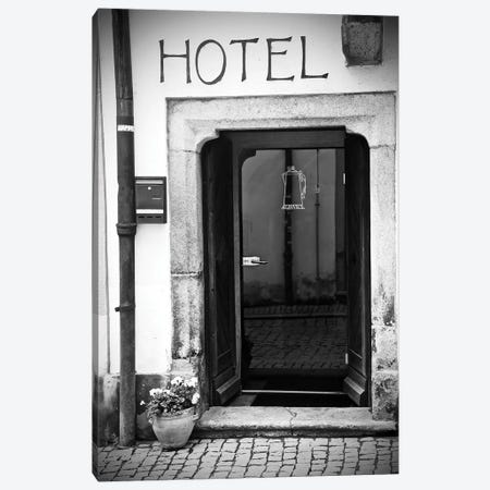 Black And White Hotel Canvas Print #SUV274} by Susan Vizvary Canvas Art Print