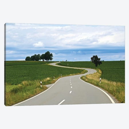 Curved Road In Linz 3-Piece Canvas #SUV276} by Susan Vizvary Art Print