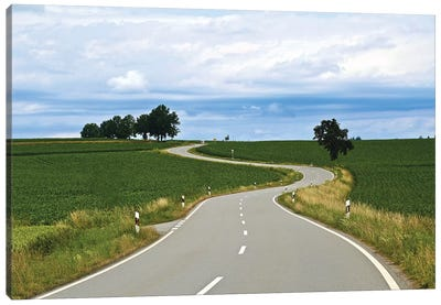 Curved Road In Linz Canvas Art Print