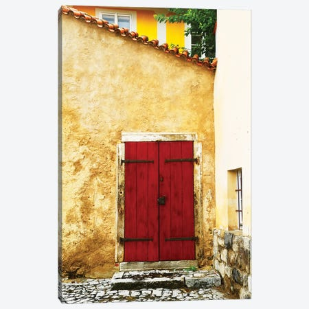 Double Red Door 3-Piece Canvas #SUV277} by Susan Vizvary Art Print