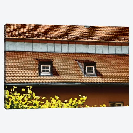 Double Window Rooftop Canvas Print #SUV278} by Susan Vizvary Canvas Art