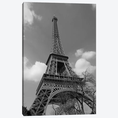 Cloudy Eiffel Canvas Print #SUV27} by Susan Vizvary Art Print