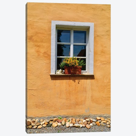 Single Window With Flower Box Canvas Print #SUV291} by Susan Vizvary Canvas Wall Art