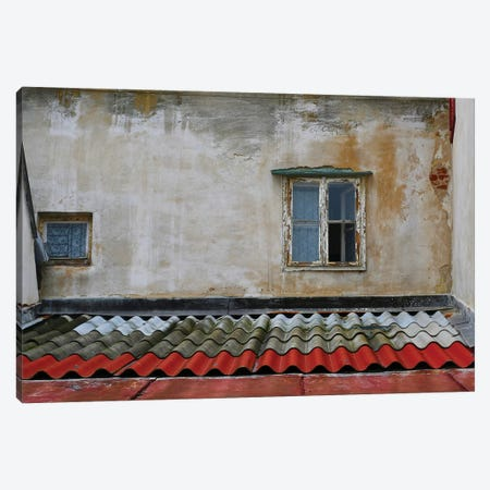 Tile Roof With Window Canvas Print #SUV293} by Susan Vizvary Canvas Artwork