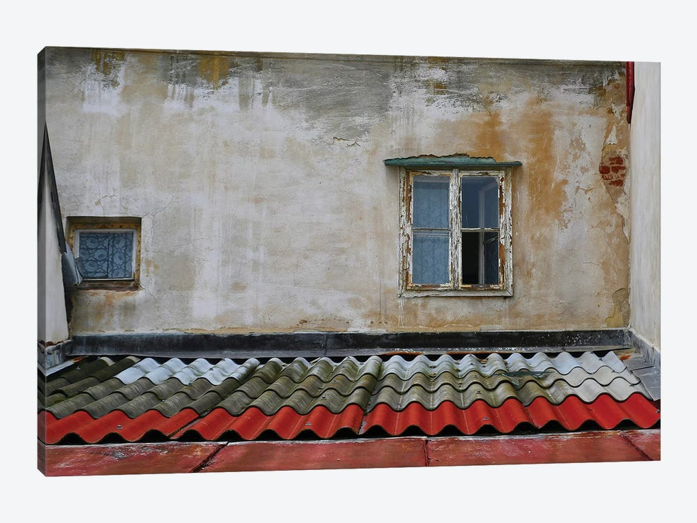 Tile Roof With Window by Susan Vizvary 1-piece Canvas Art Print
