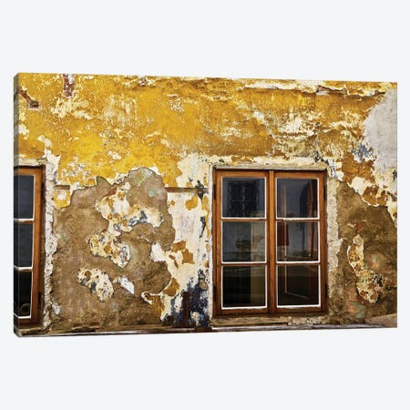 Window With Yellow Cracked Wall Canvas Print #SUV299} by Susan Vizvary Canvas Art