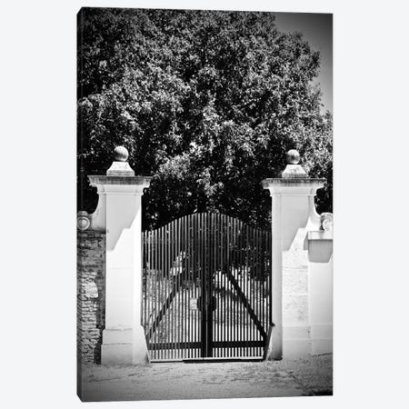 Wooden Gate Black And White Canvas Print #SUV300} by Susan Vizvary Canvas Art