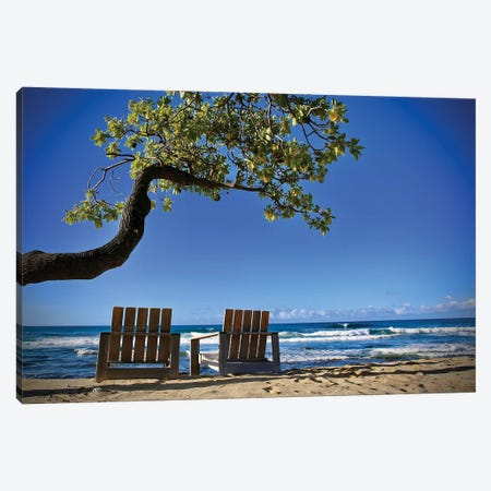 2 Chairs On The Beach 3-Piece Canvas #SUV305} by Susan Vizvary Canvas Print