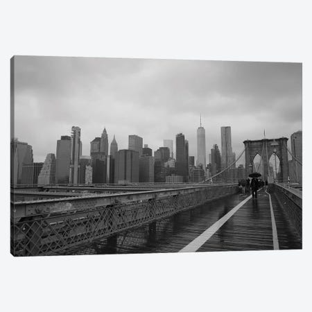 City Scape From Brooklyn Bridge Canvas Print #SUV310} by Susan Vizvary Canvas Art Print