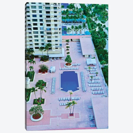 Miami Pool From Above Canvas Print #SUV312} by Susan Vizvary Canvas Art Print