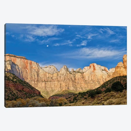 Moonrise Over Zion 3-Piece Canvas #SUV314} by Susan Vizvary Canvas Wall Art