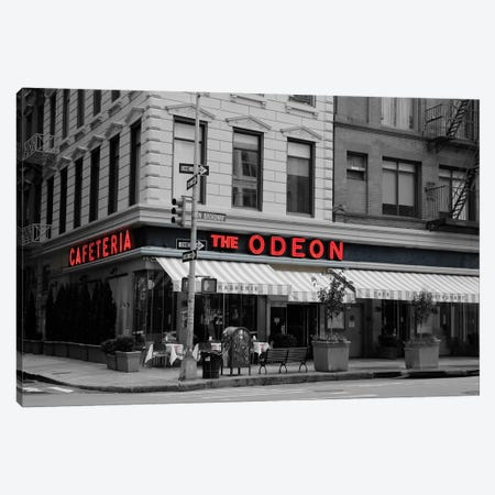 Odeon Corner In Black And White Canvas Print #SUV316} by Susan Vizvary Canvas Art