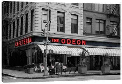 Odeon Corner In Black And White Canvas Art Print