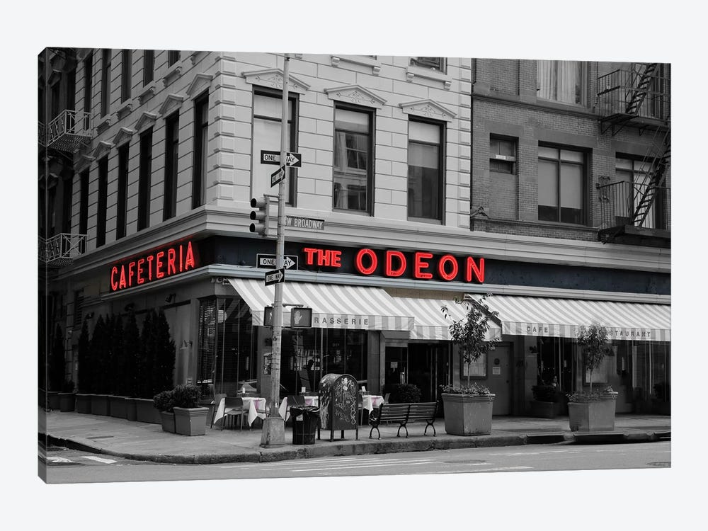 Odeon Corner In Black And White by Susan Vizvary 1-piece Art Print