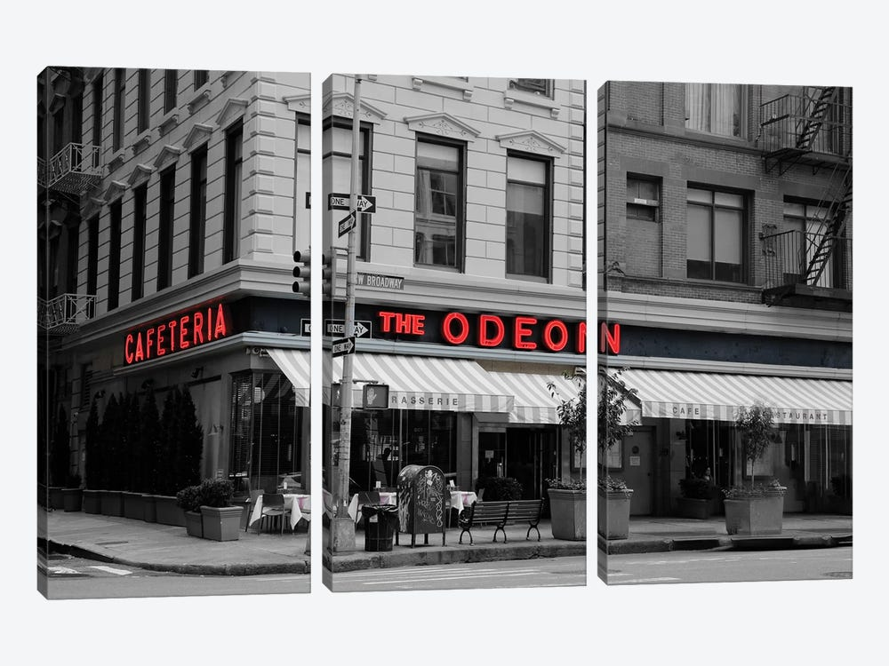 Odeon Corner In Black And White by Susan Vizvary 3-piece Art Print