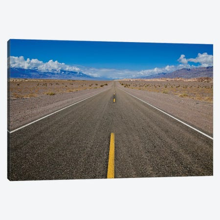 Death Valley Road To Nowhere Canvas Print #SUV320} by Susan Vizvary Canvas Artwork