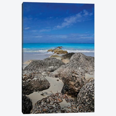 Turks Rocks To The Ocean Canvas Print #SUV329} by Susan Vizvary Canvas Wall Art